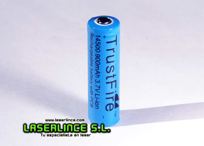 1 Rechargeable Battery 900mAh 3.7 V 14500 Trustfire