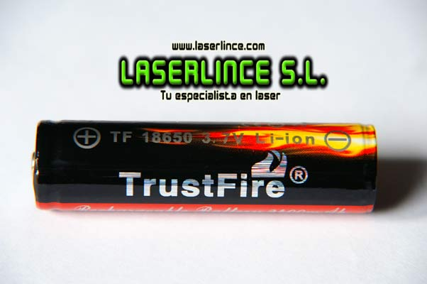 1 Rechargeable Battery 18650 2400mAh 3.7 V Trustfire
