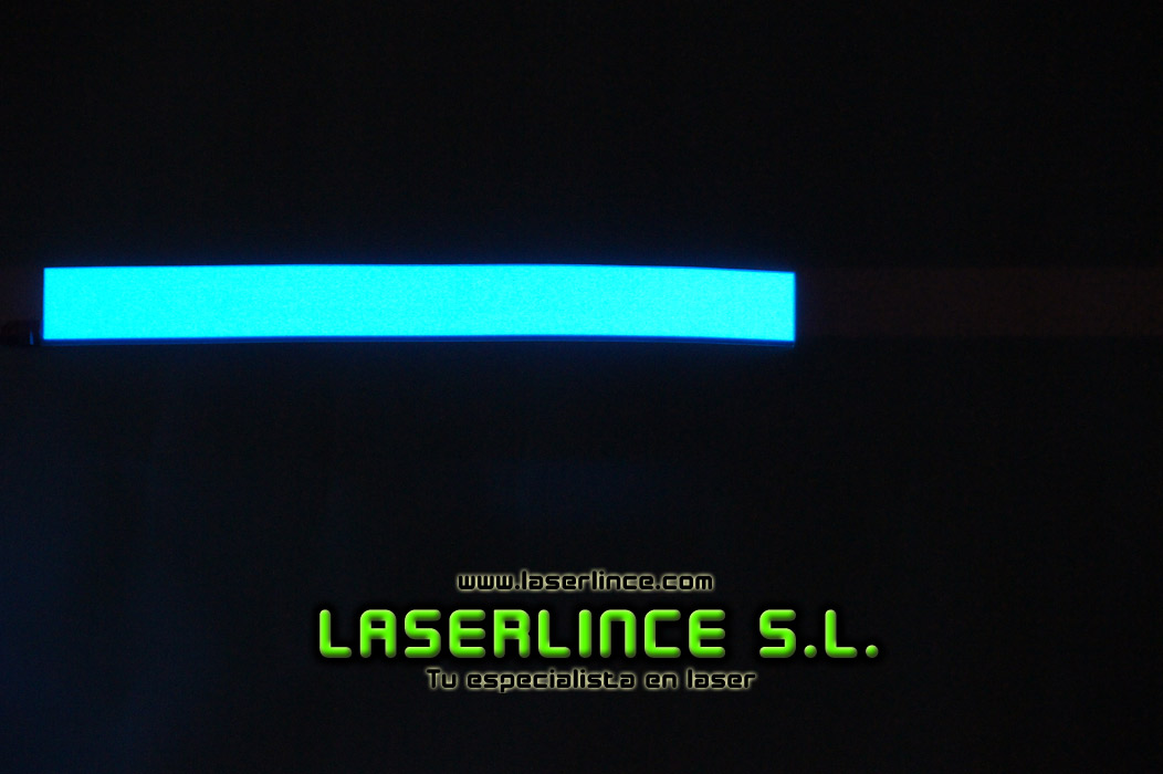 Electroluminescent light strip 30.5 cm X 3.2 cm blue