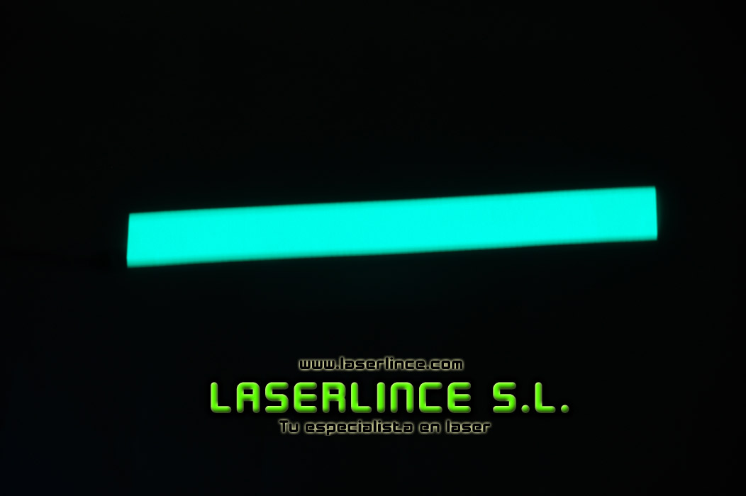 Electroluminescent light strip 30.5 cm X 3.2 cm green