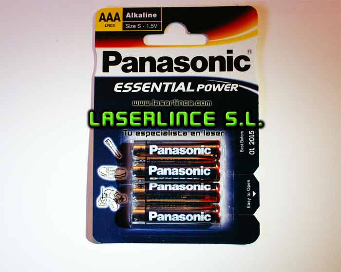 Panasonic Alkaline Batteries AAA 4 units. <br>