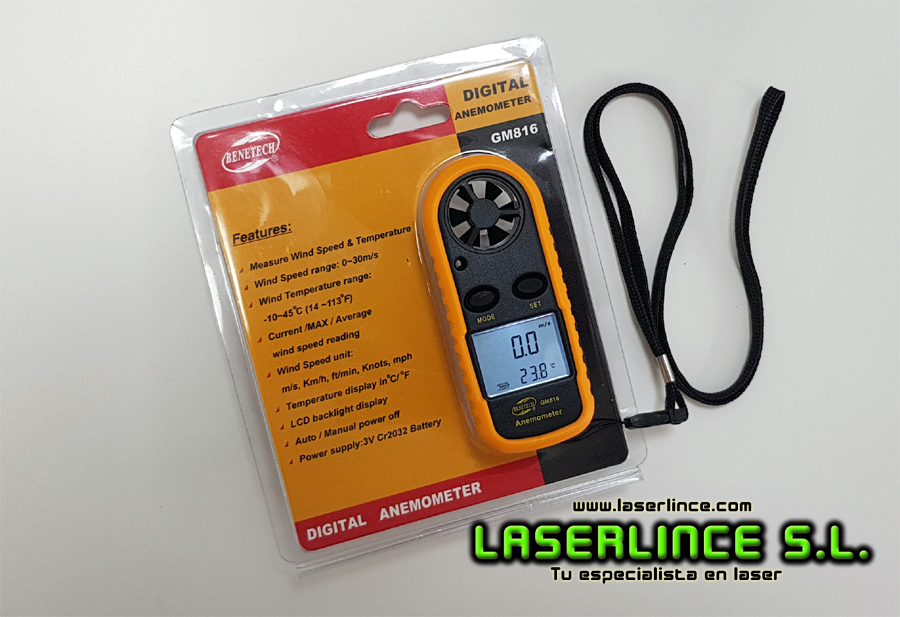 Benetech portable digital anemometerⓇ