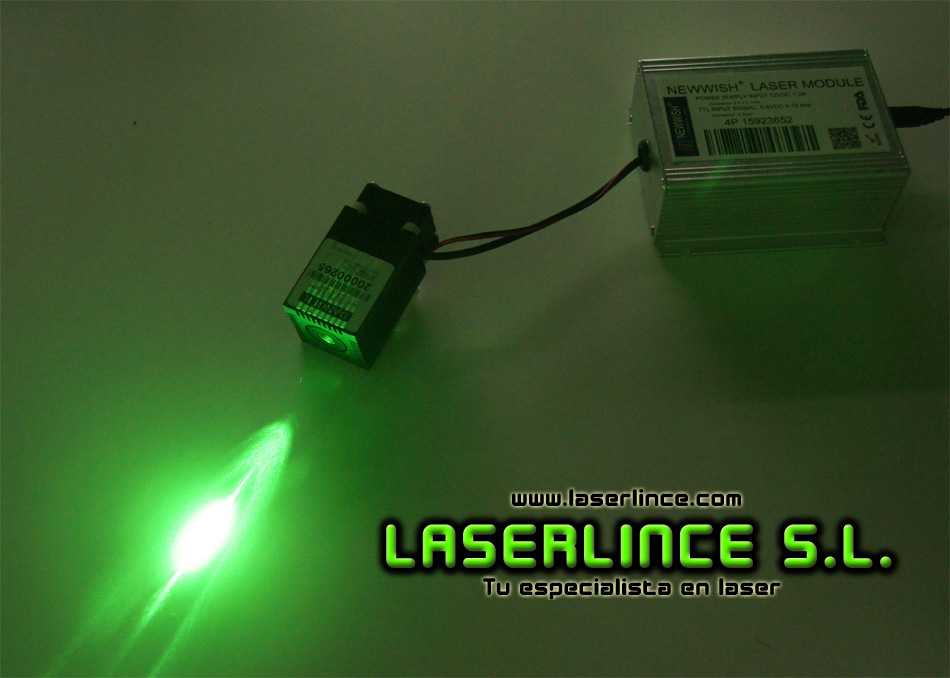 B8 Green laser module 100mW (520nm) with TTL modulation