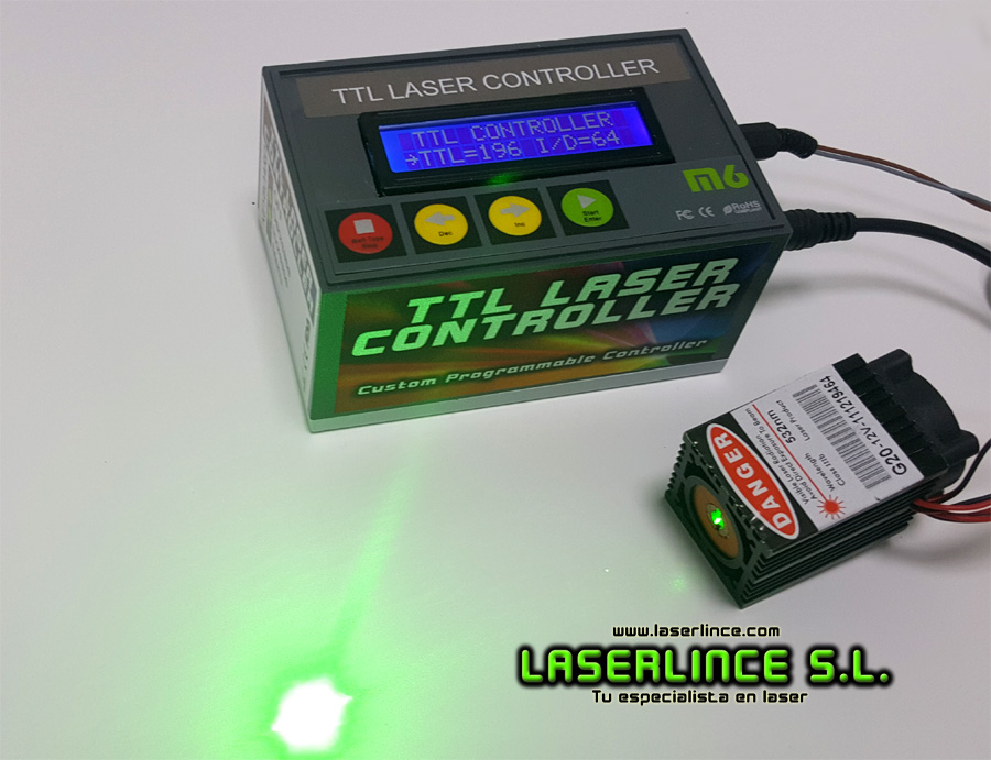 Digital power controller for laser (TTL modulator)