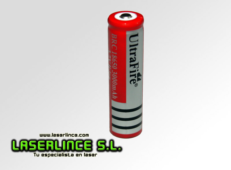 1 Rechargeable Battery UltraFire 18650 3000mAh 3.7 V