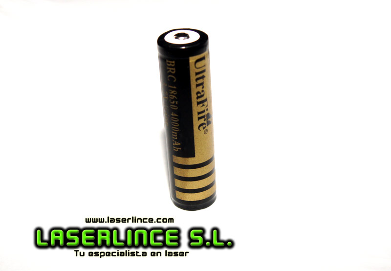 1 Rechargeable Battery UltraFire 18650 4000mAh 3.7 V PCB system