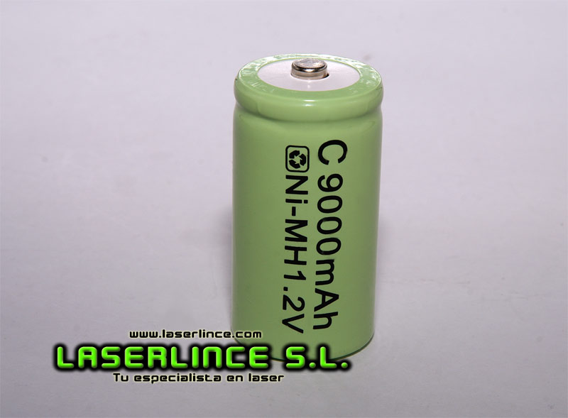 1.2 V rechargeable battery of 9000mAh Ni-MH