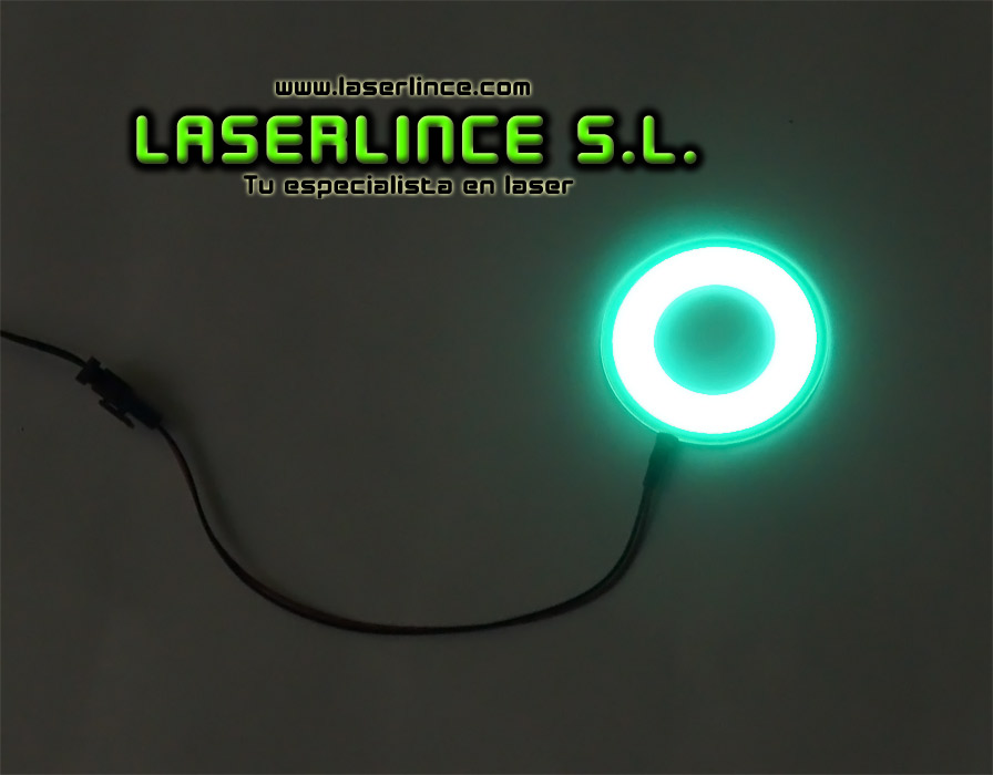Ring 6cm green electroluminescent light