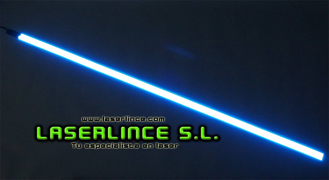 Electroluminescent light strip 100cm X 2.5 cm blue