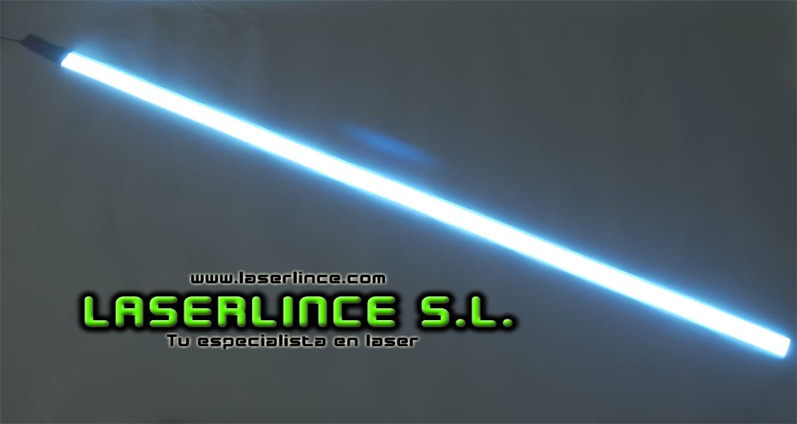 Electroluminescent light strip 100cm X 2.5 cm white