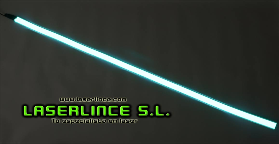 Electroluminescent light strip 100cm X 2.5 cm green