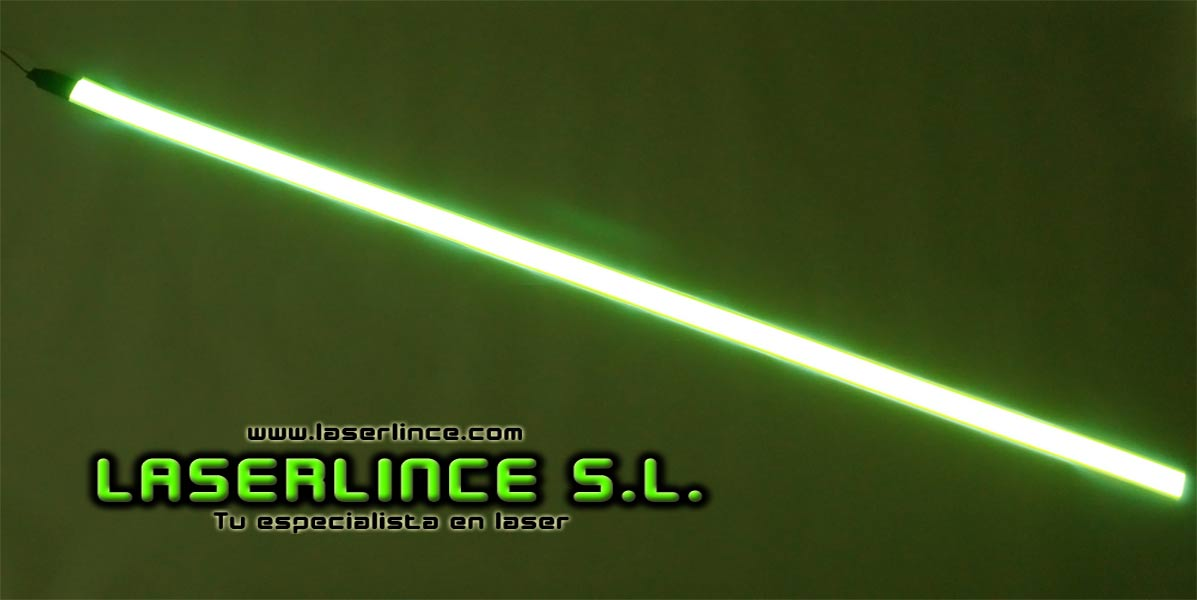 Electroluminescent light strip 100cm X 2.5 cm yellow