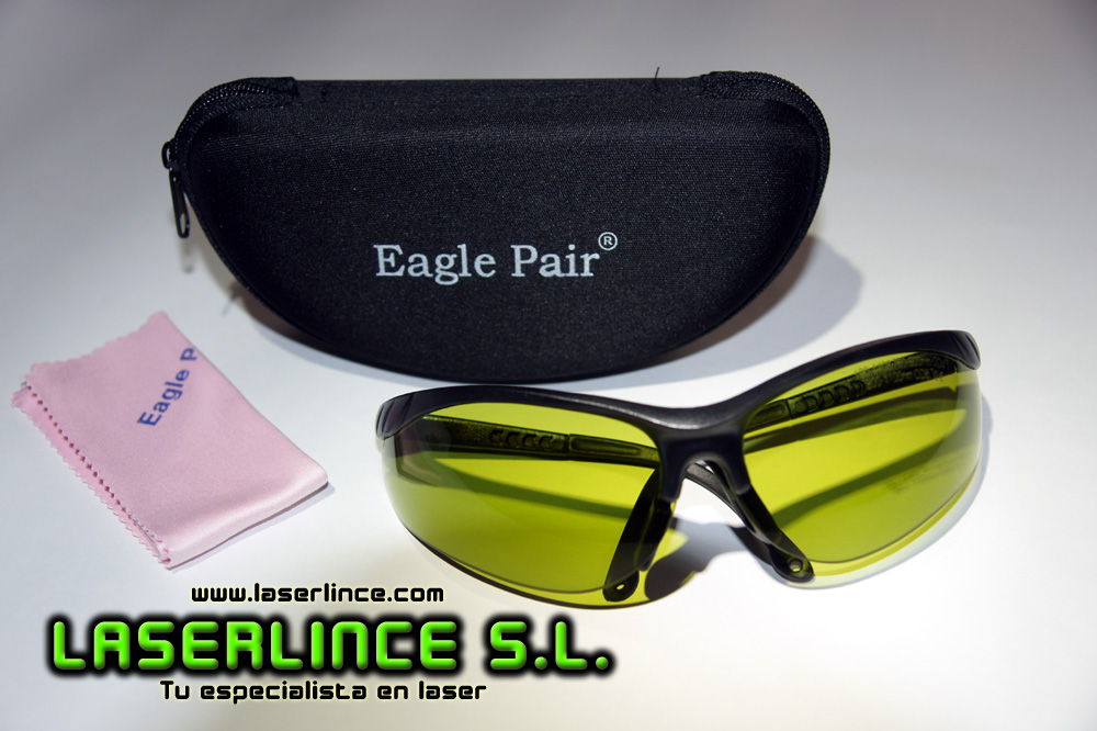 Infrared laser protection glasses of 800-1100 nm OD 6+