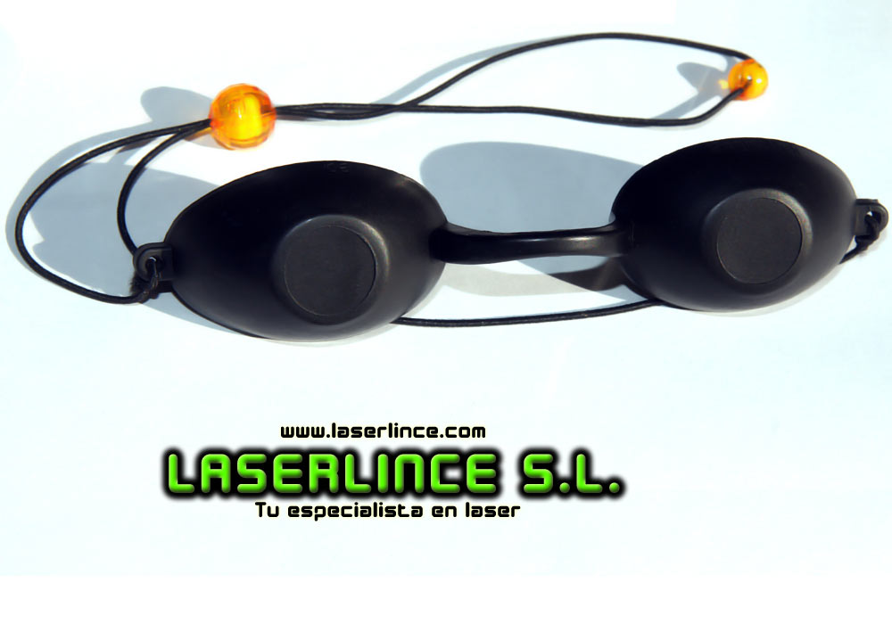 opaque goggles and IPL laser protection for patients