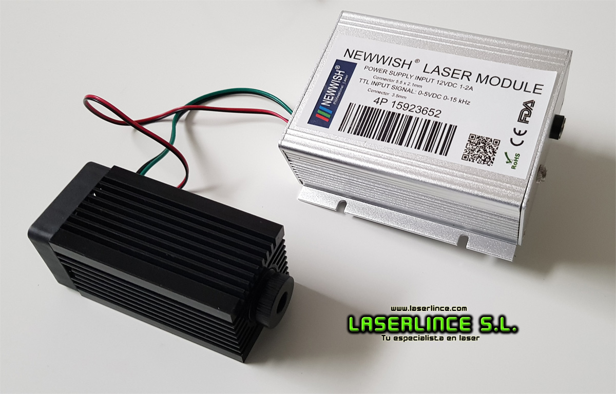 B9 1000mW (520nm) green laser module with TTL modulation