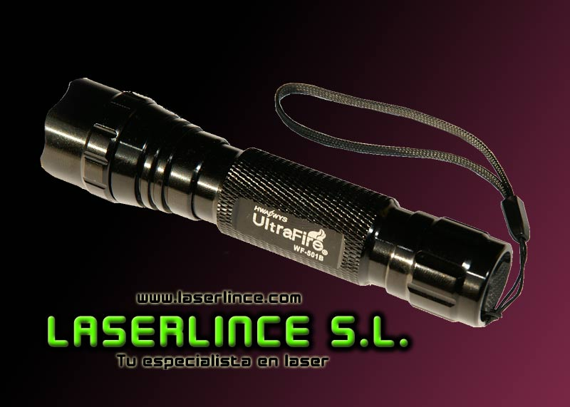 Infrared light UltraFire Flashlight (3W of power)