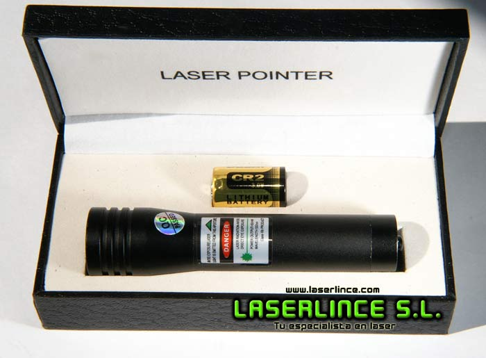 E9 Green Laser Pointer 50 mW (532nm) of CR2 ON/OFF