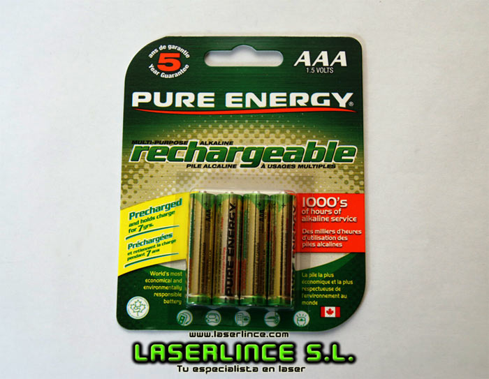 1 AAA rechargeable battery RAM: rechargeable alkaline-manganese