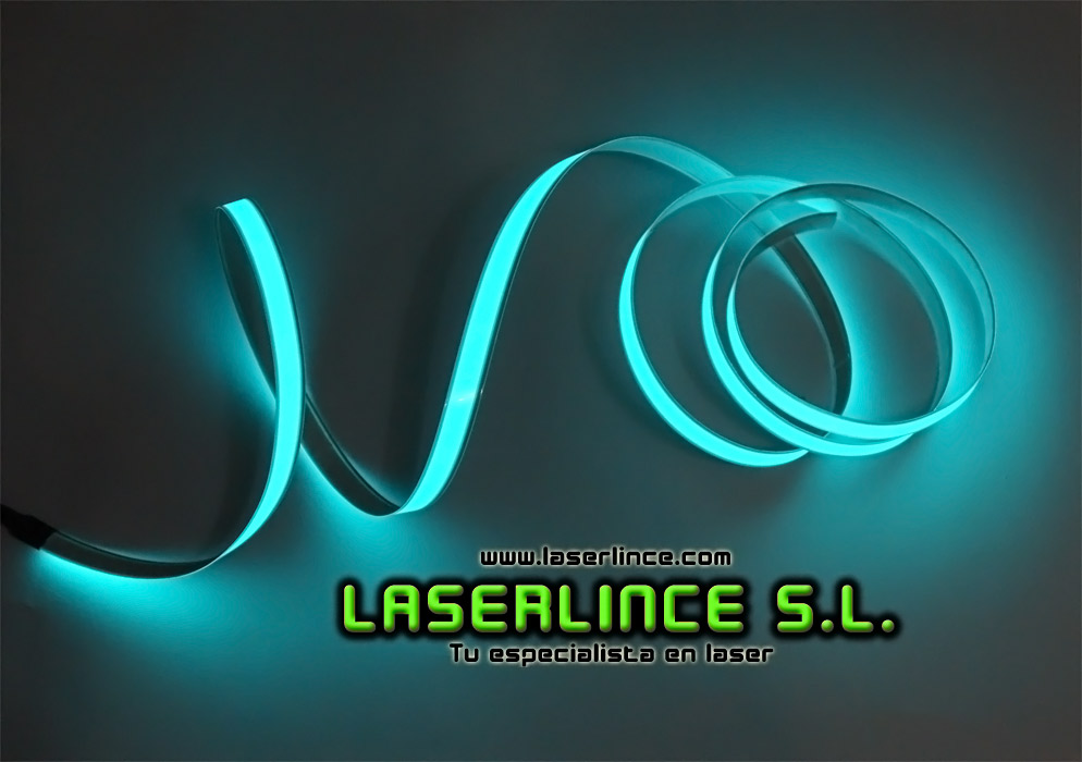 Electroluminescent light strip 100cm X 1.5 cm Turquoise