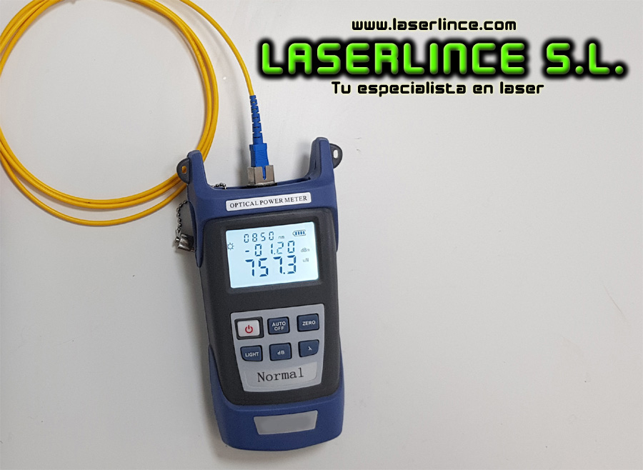 Optical laser power meter 800-1700nm for telecommunications