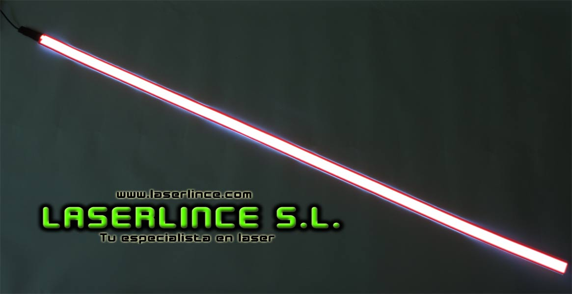 Electroluminescent light strip 100cm X 2.5 cm red